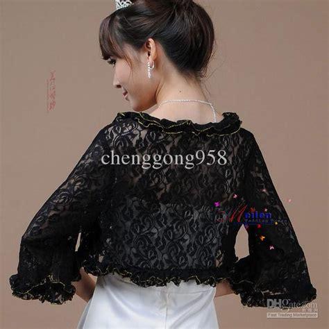 Black Lace Wedding Bridal Bolero/Shrug Jacket Cheap Bridal