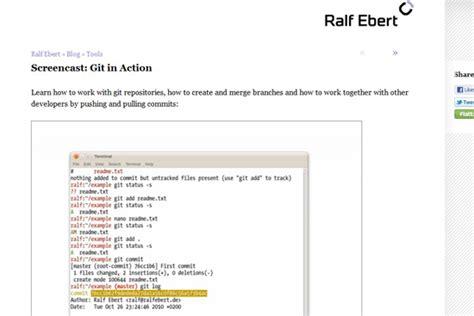 git tutorial linux pdf 10 个对初学者有用的 git 教程 haippy 博客园