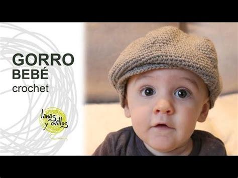 patrones para boinas de tela bebe tutorial gorro o boina beb 233 crochet o ganchillo youtube