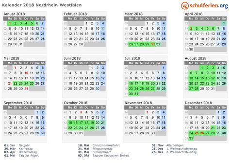 Kalender Mit Ferien 2018 Kalender 2017 2018 2019 Nordrhein Westfalen