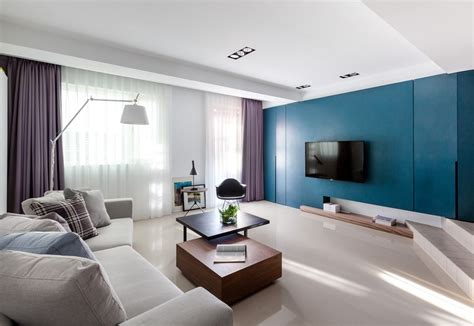 Harmonious Modern Home In Taiwan Especially Designed For Modern Apartment Decorating Ideas
