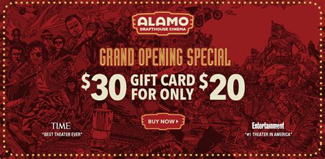 Alamo Drafthouse Gift Card - alamo drafthouse cinema in richardson tx announces grand opening offer as a special