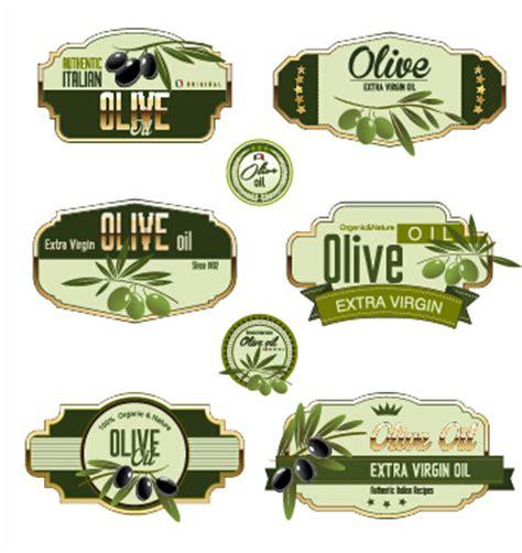 Green Olive Oil Labels Set Vector Free Vector In Encapsulated Postscript Eps Eps Vector Olive Labels Templates