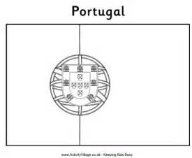 Portugal Flag Free Colouring Pages Portugal Flag Coloring Page