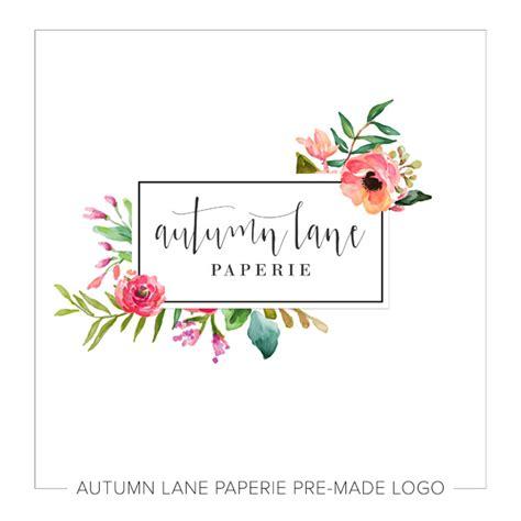 design logo shabby chic premades archives autumn lane paperie