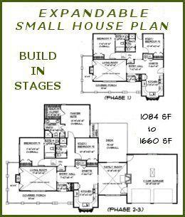 Small Expandable House Plans Expandable House Plans Bs 1084 1660 Ada Small Expandable Country Ranch Build In Stages