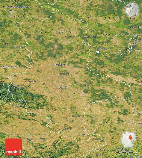 germany satellite map satellite map of sachsen anhalt