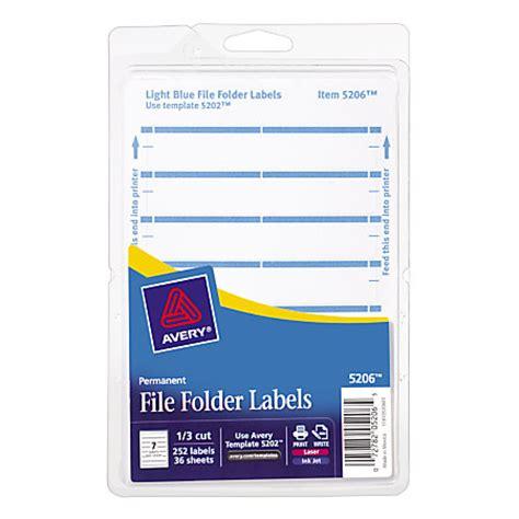 Avery Print Or Write Permanent Inkjetlaser File Folder Labels 58 X 3 12 Light Blue Pack Of 252 Avery File Folder Template