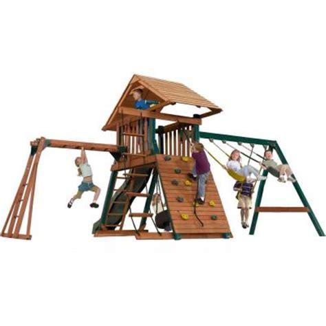 swing n slide home depot swing n slide installed sky mountain deluxe wood playset