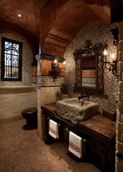 did castles have bathrooms 63 sensational bathrooms with natural stone walls