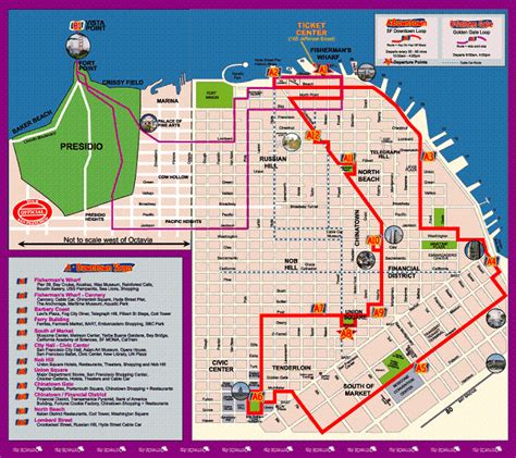 san francisco map travel maps update 21051488 sf tourist attractions map san