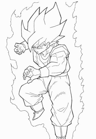 dragon ball z goku super saiyan 2 coloring pages goku tenkaichi 3 coloring pages