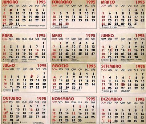 Calendario De 1995 Tereza Oliveira Schiehll Ano De 1995 Escola