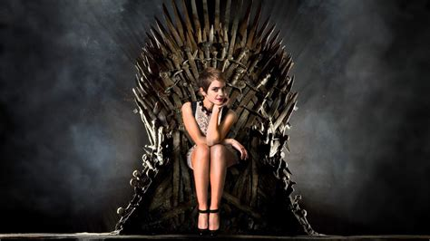 Emma Watson Game Of Thrones | emma watson on the iron throne wallpaper