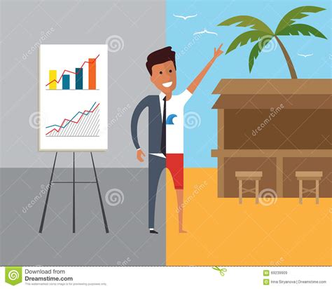 imagenes vacaciones de trabajo hombre de negocios en el trabajo y el vacaciones ejemplo