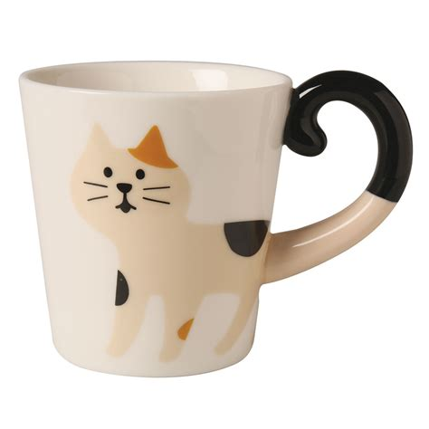Cat Smile Mug cat ceramic mug calico cat ebay