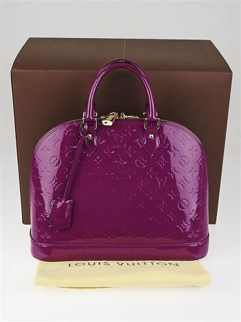 louis vuitton amethyste monogram vernis alma mm bag
