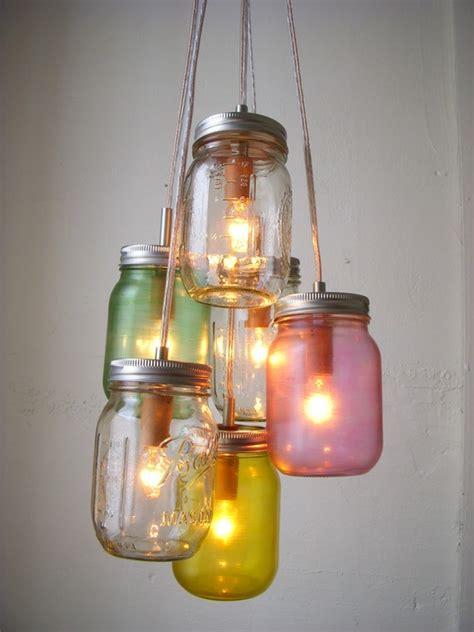 jar chandelier rustic hanging jar pendant