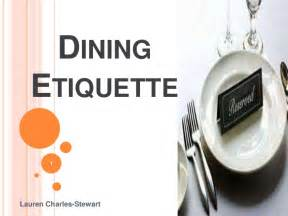 Dining Table Manners Dining Etiquette