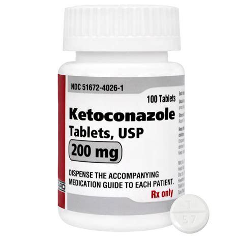 Tablet Ketoconazole ketoconazole rx tablets 200 mg x 100 ct