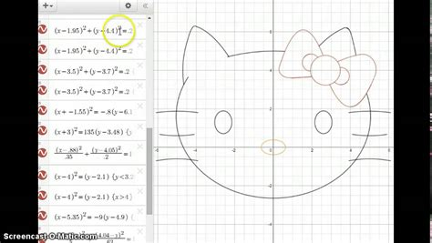conic sections project exles hello kitty conics desmos youtube