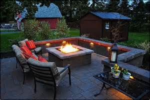 backyard patios with pits backyard pit ideas with simple design