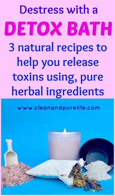 Detox Herbal Bath Recipe by How To Take A Detox Bath At Home Clean And