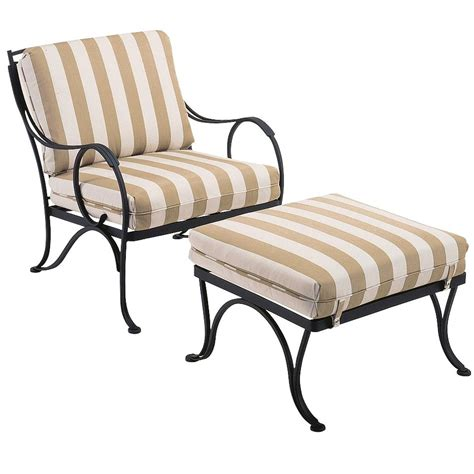 pictured is the modesto ottoman from woodard outdoor