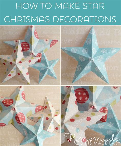 how to make home made christmas decorations making christmas decorations easy 3d stars baubles and