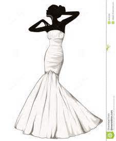 Elegant girl in a wedding dress stock illustration image 39167804