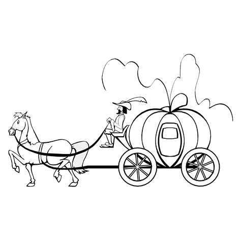 pumpkin carriage coloring page free pumpkin carriage coloring pages