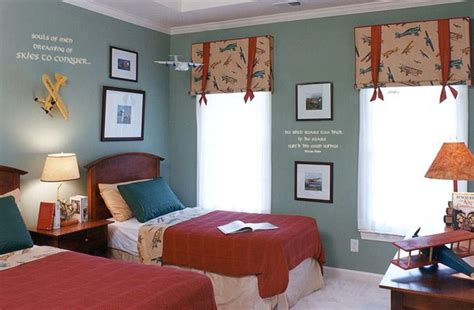 Boys Bedroom Colors | aviation room idea
