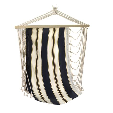 wholesale garden hammock chair navy blue and white