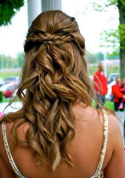 hairstyles with curls prom hair with curls and braids and hair in the front