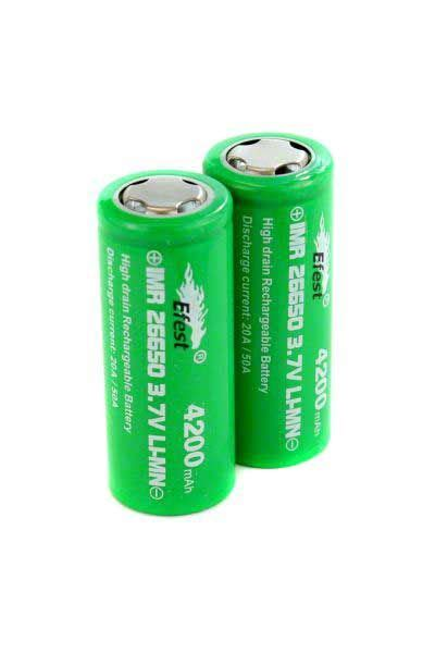 Diskon Efest Imr 26650 Battery 4200mah 3 7v 50a With Flat Top accessories efest imr 3 7v 26650 flat top battery 4 200 mah vaporbeast
