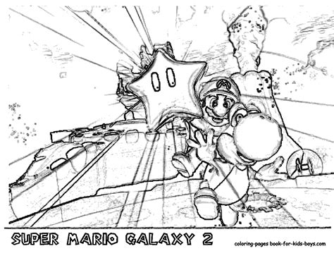 coloring pages super mario galaxy 2 jarvis varnado printables nintendi wii super mario galaxy