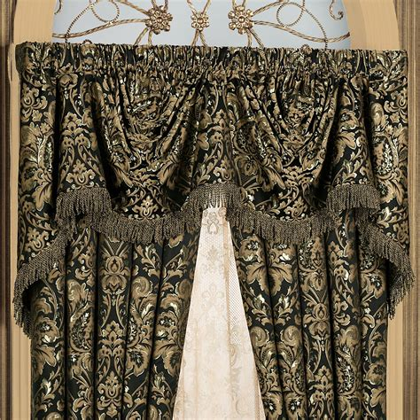 black and gold damask curtains imperial damask empire valances and curtains