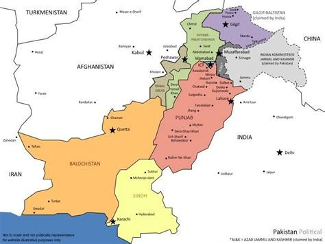 Pakistan Address Finder Urbanduniya Pakistan Political Map