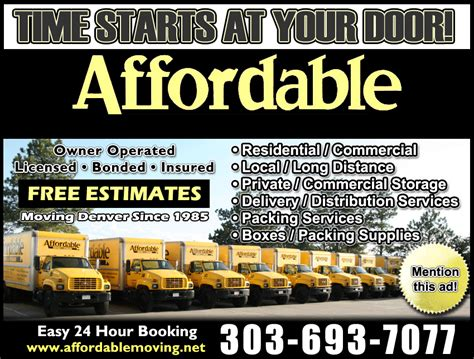 moving and storage companies denver co movers denver co affordable moving and storage