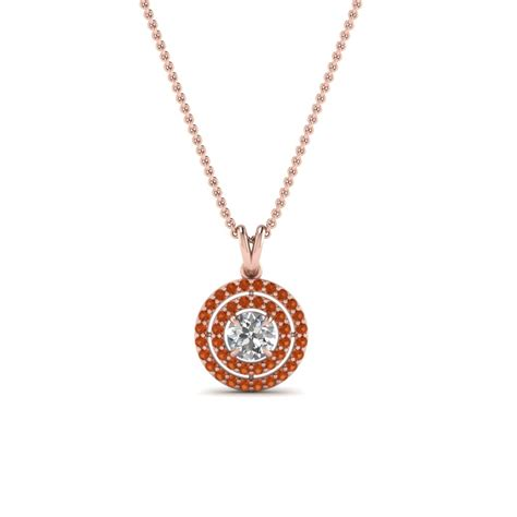 Halo Style Sapphire Diamond Pendant