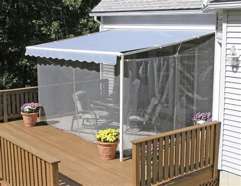 Portable Patio Awnings by Sunsetter Screen Room For Sunsetter Retractable Awning