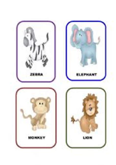 jungle animal flashcards printable english worksheets jungle animals flashcards