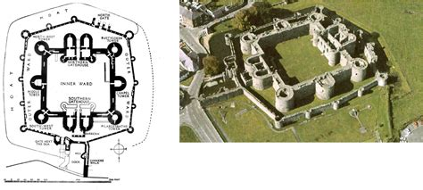 beaumaris castle floor plan architecture 217 gt choi gt flashcards gt lecture 16