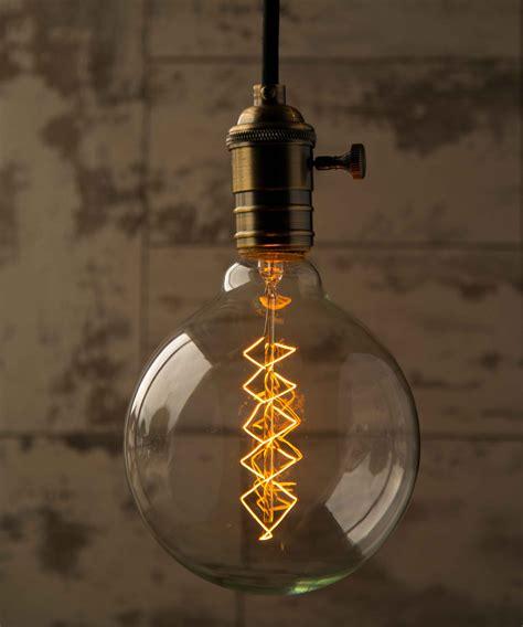 large globe light bulbs edison globe spiral extra large vintage filament light