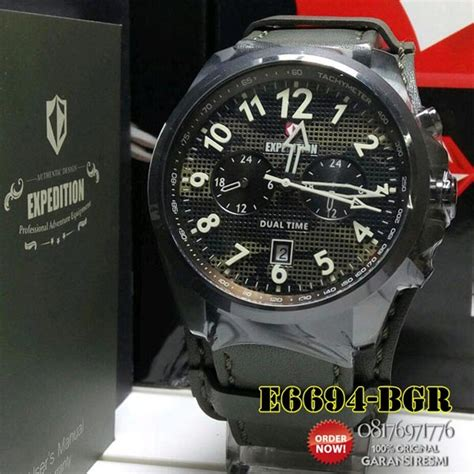 Expedition Jam Tangan Asli by Jam Tangan Expedition E6694 Pria Tali Kulit Original