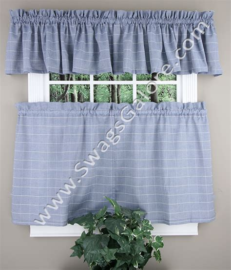 kitchen curtains swags vue tiers and valance blue lorraine tiers swags