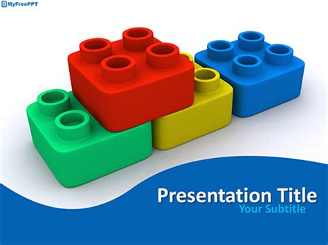 Free School Powerpoint Templates Themes Ppt Building Blocks Template