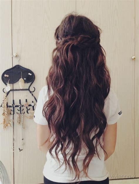 hair like this at some point i want to style my hair like i want hair like this we heart it hair long hair and