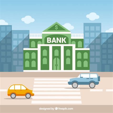 free bank green bank building vector free