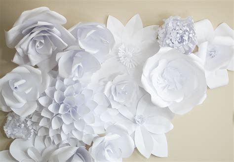 Paper Flowers - paper flower backdrop flower 2 ash and crafts